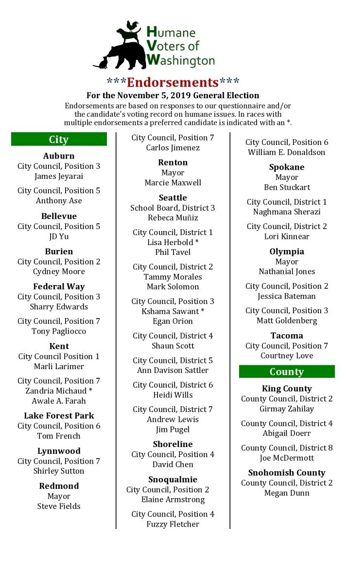 HVW 2019 General Endorsements Cheat Sheet