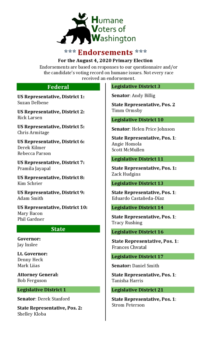 HVW 2020 Primary Election Guide 1